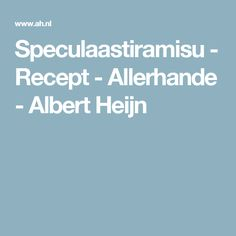 Speculaastiramisu - Recept - Allerhande - Albert Heijn