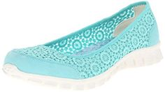 Amazon.com | Skechers Sport Women's EZ Flex Sweetpea Slip-On Flat | mint