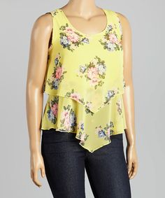 Another great find on #zulily! Yellow Floral Top - Plus #zulilyfinds
