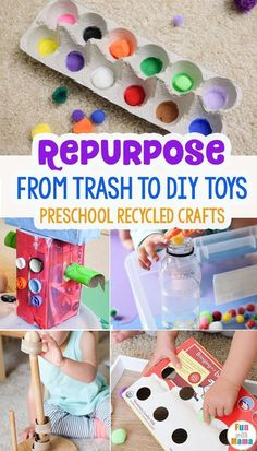 From Trash to Toys - Preschool Recycled Crafts