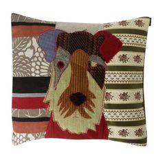 Patchwork dog cushion - fab cushion....