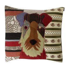 Patchwork dog cushion