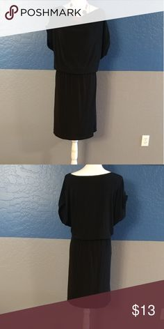 """NWOT Coldwater Creek Plus Size 1X or 18 Beautiful Black Dress Short Sleeve Elastic Waist Stretchy Material 42"""" Bust 38"""" Length Acetate Spandex Bundle and Save Coldwater Creek Dresses"""