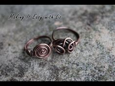 How To Make an Easy Wire Ring-2 Styles - YouTube