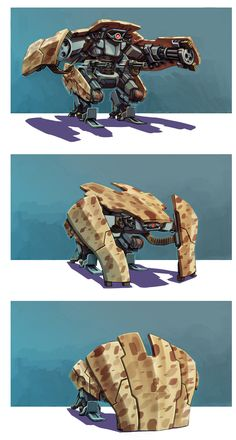 robot positions by estivador.deviantart.com on @deviantART