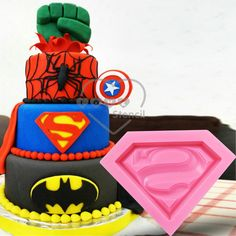 Super Man Movie Fondant Cake Silicone Mold Cupcake Biscuit 3D Mold Cake Decor Supplies Sugar Craft Mould Bakeware Tool