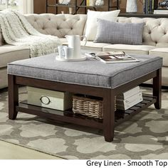 Lennon Espresso Planked Storage Ottoman Coffee Table by TRIBECCA HOME | Overstock.com Shopping - The Best Deals on Coffee, Sofa & End Tables