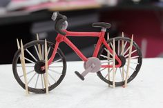 Assembling gumpaste bicycle