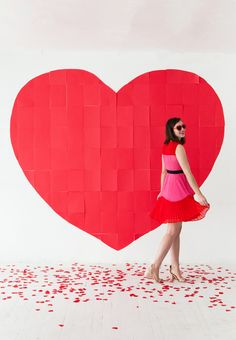 Giant Paper Heart Backdrop   Oh Happy Day!