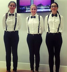 Waitresses Dressed In New Formal Uniforms With Black Bow T… | Flickr