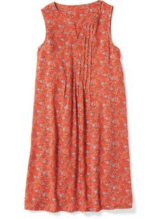 Pleated Boho Swing Dress for Girls