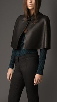 Burberry Leather Capelet, Fall 2013.