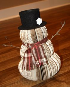How to Recycle: Recycled Snowman Christmas decor