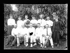 Team photograph of the St Kida Cricket Club First XI, season 1898-99. The bearded gent is P.G.McShane, Australian test cricketer.  Place & Date Created:St Kilda, Victoria, Australia, circa 1895