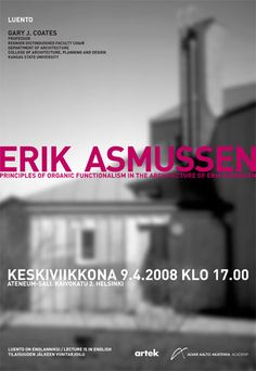 Design: Janne Vesterinen Kansas State University, Alvar Aalto, Helsinki, Posters, Design, Creativity, Poster, Billboard