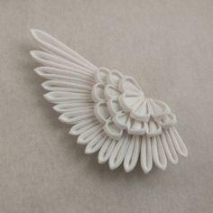 Angel Wing Tsumami Kanzashi Large Bobby Pin / Hermes /