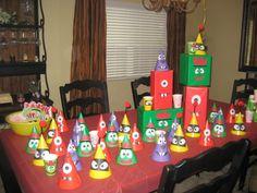 Homemade Decor for Yo Gabba Gabba party