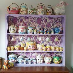 More shelfies #vintage #kitsch #cute #stuff #shelfie #myhome #collection #cat…