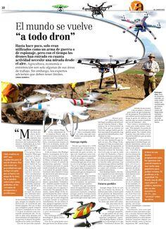 141115 - A todo Dron - Reportaje de el mercurio sobre aplicaciones comerciales del los Multicopeteros en Chile.