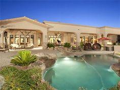 Beautiful desert landscaping in this beautiful backyard . . .