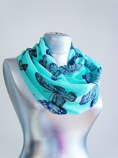 Butterfly scarf:) want! I <3 butterflies! And its blue! too many butterfly things are pink & purple :/