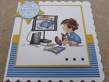 Lili of the Valley Handmade Boys Birthday Card Boy with Playstation SCT Designs