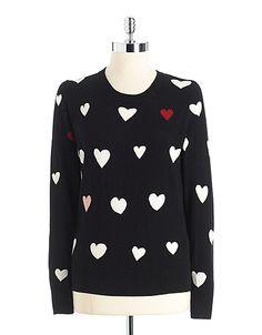 Long Sleeve Heart Sweater