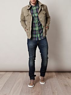 Belstaff Seven Canvas Jacket in Green for Men (sage) | Lyst
