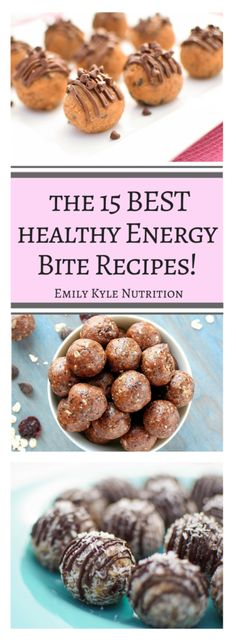 Love energy bites? Get the 15 Best Healthy Energy Bite recipes from nutrition experts - registered dietitians, who know how to make food nutritious and delicious! | @EmKyleNutrition