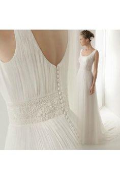 Summer Zipper Natural Handmade Custom Wedding Dresses