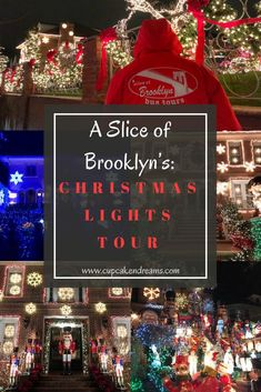 Christmas Lights of Dyker Heights Tour NYC, What to do in NYC, What to do in NYC during the holidays, Holidays in NYC, Brooklyn Travel Guide Hanging Christmas Lights, Holiday Lights, Christmas Decorations, Holiday Decor, Xmas Lights, New York Christmas, Christmas 2019, Christmas Kitchen, Vintage Christmas