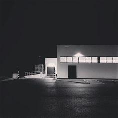 @aldiuk by night (delivery ramp). #shop #architecture #modernism #minimalism #carpark #blackandwhite #blackandwhitephotography #bnw #monotone #monochrome