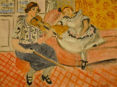 Henri Matisse 1869-1964 Violinist and Young Girl (Divertissement), 1921 at Baltimore Museum of Art Baltimore MD
