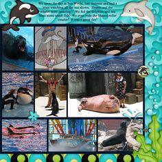 Sea World scrapbook