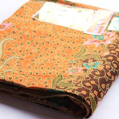 brown and orange   vintage  pure cotton traditional by 18dec, $17.00