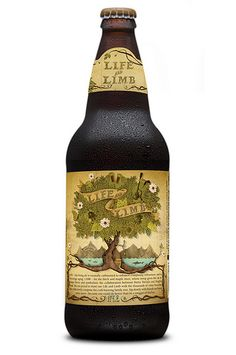 Sierra Nevada and Dogfish Head's Life & Limb beer packaging, illustrated by Jeremy Holmes. Brewery Logos, Dogfish Head, Mixed Drinks Alcohol, Oh Beautiful, Beers Of The World, More Beer, Beer Brands, Beer Packaging, Home Brewing