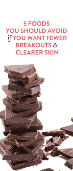 5 foods to avoid for clearer skin