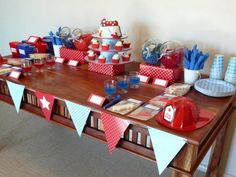 Fire Engine Dessert Table