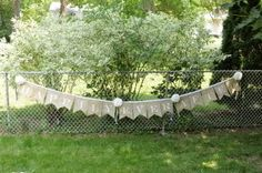 """How to make a burlap wedding banner tutorial """"happily ever after"""""""