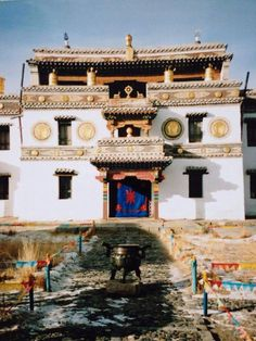 The monastery of Erdene Zuu Places Around The World, Around The Worlds, Caucasus Mountains, Genghis Khan, Temple Design, Cathedral Church, Old Building, Chapelle, Mosques