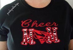 Proud Mom of Cheerleader SHORT SLEEVE Tee Shirt. $20.00, vi