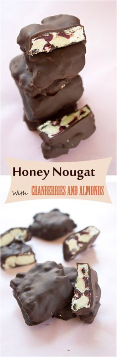 Honey Nougat With Cranberries And Almonds