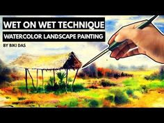 #Wet_on_wet_Landscape- loose Watercolor Technique - YouTube Watercolor Techniques, Watercolor Paintings, Watercolor Landscape Tutorial, Cornwall, Art Tutorials, Tips, Youtube, Instagram, Water Colors