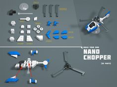 """Nano Chopper LEGO MOC Nano Instructions"" by GolPlaysWithLego: Pimped from Flickr"