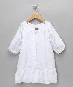 White Bohemian Swiss Dot Dress - by Petit Confection