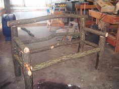 Rustic wood benches rustic garden bench how to make an oak garden bench Rustic Wood Bench, Rustic Wood Crafts, Rustic Decor, Wood Benches, Willow Furniture, Rustic Furniture, Garden Furniture, Furniture Ideas, Outdoor Furniture