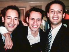 Carlos Keyes with Marc Anthony and Ralph Fernandez hanging at a Grammy Honors Event.