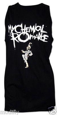 My Chemical Romance MCR The Black Parade Rock Punk Tank Top Singlet s M L   eBay