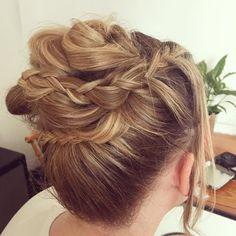 Up do, wedding hair, bridesmaid, guest, braids, plaits, curls, bun, boho, texture, hair