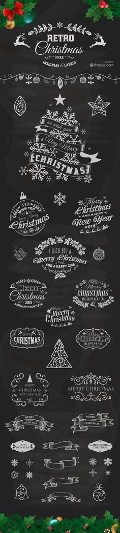 Christmas Insignias and Labels